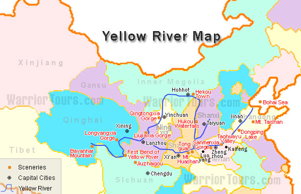 Map of yellow river 1320 1